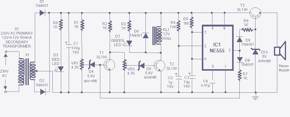 555 ac voltage regulator delay and overvoltage alarm circuicircuit the high and low voltage cut off with delay and alarm circuit with rh pinterest com asfbconference2016 Image collections