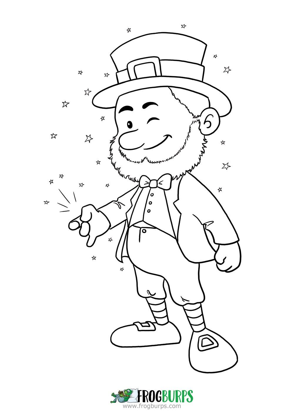 Leprechaun Fruit Coloring Pages Coloring Pages Leprechaun