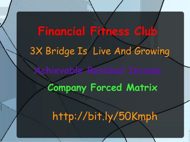 Financial Fitness 3 X Bridge By Mary Howard Via Slideshare Financial Fitness Business Banner Financial