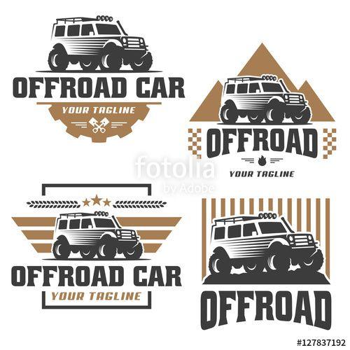 Vector Vector Pack Of Off Road Car Logo Design Offroad Car Vector