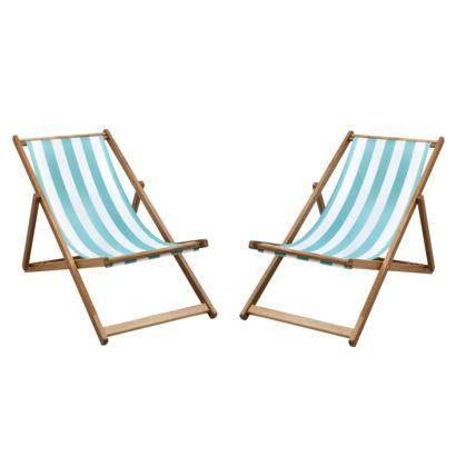 Cabana 2 Piece Wood Patio Chair Set  Teal