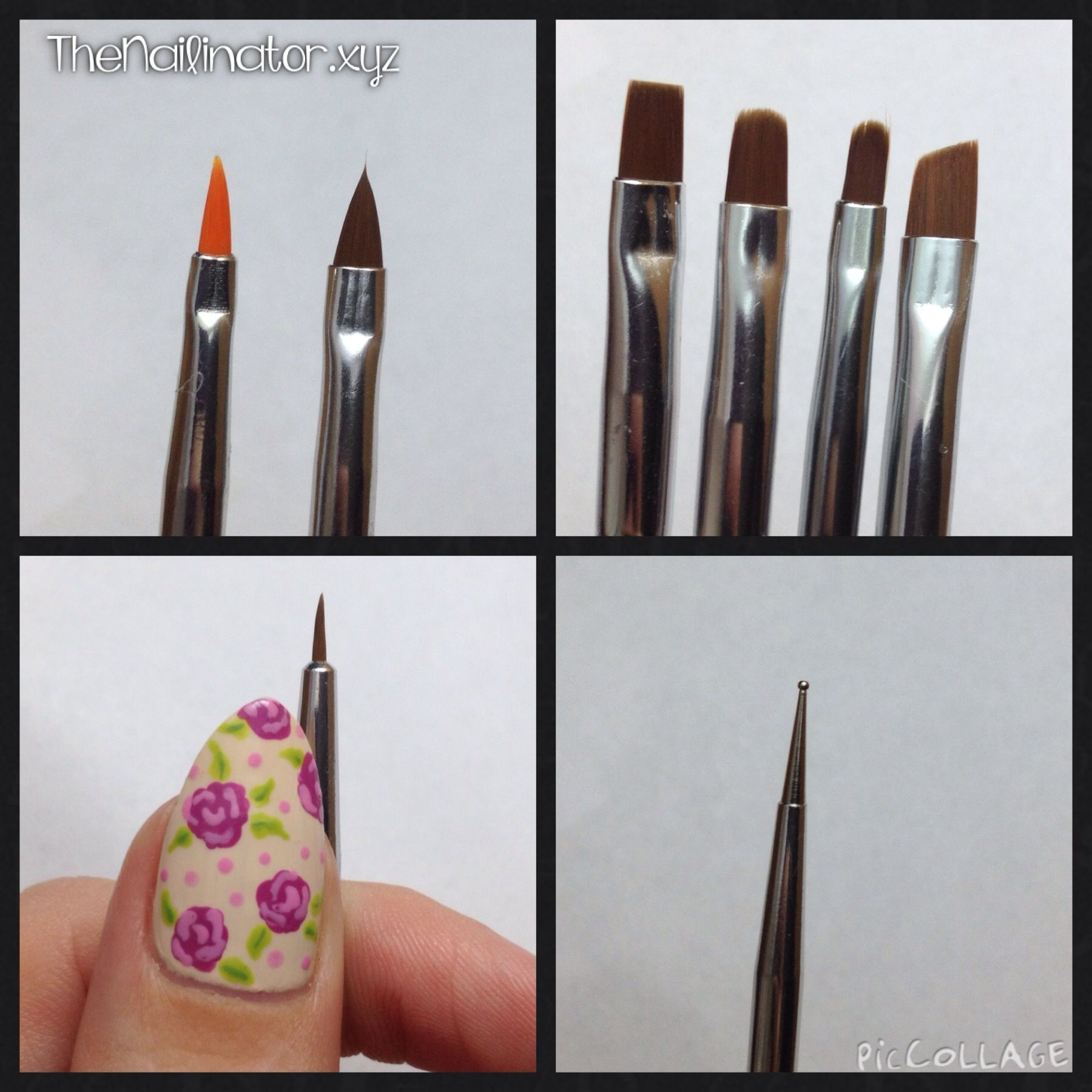 The Nailinator Review of Born Pretty Store brush set. Close up of ...