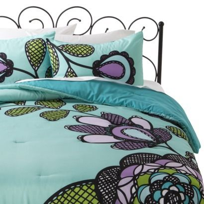 Xhilaration Bedding Floral Target Bed In A Bag | Fun Flowers Bedding,  Quilts And Comforters