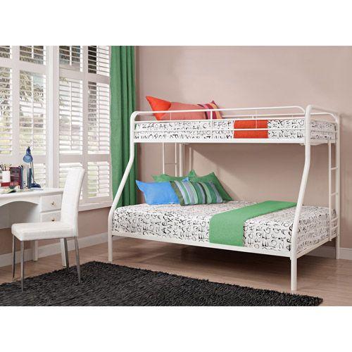 Dorel Twin Over Full Metal Bunk Bed Multiple Colors Salter