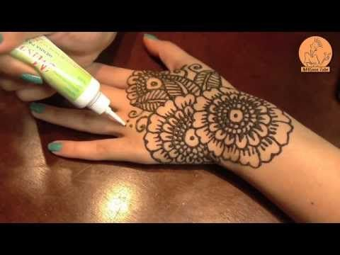 طريقة صنع طربوش الحنة طريقة سهلة جدا وبسيطة Hind Deer Youtube Henna Tattoo Designs Mehndi Designs Cute Henna