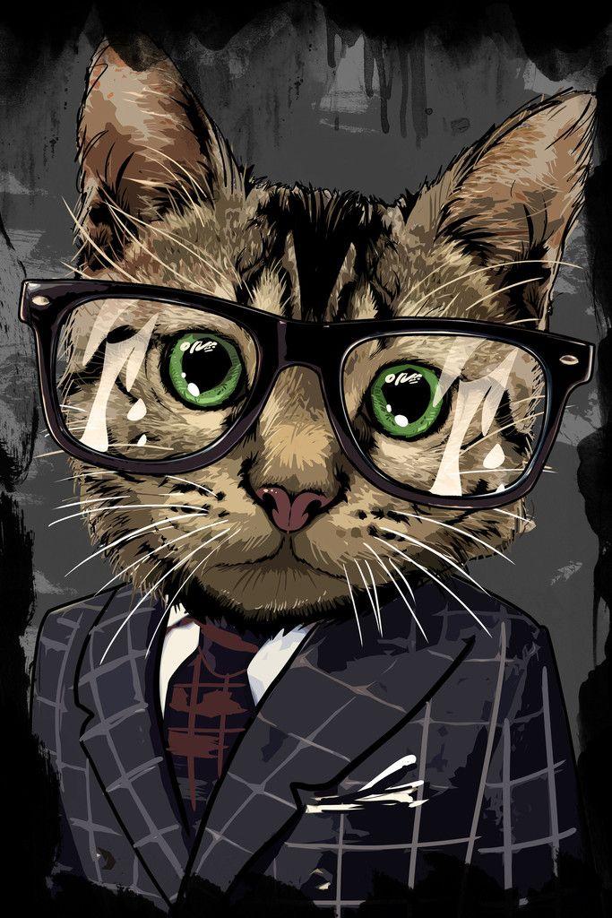 Professional Cat Hey Prints Dessin Chat Peinture Chat Animaux En Costumes