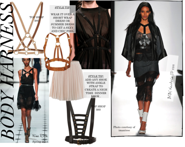 Accessories Report Fringe Details Harness Fashion Wrap Dress Short Body Harness