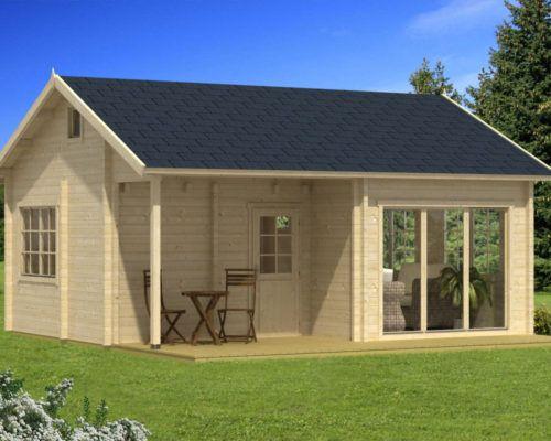 Grosses Gartenhaus Mit Veranda Alabama 30m 70mm 6x7 Hansagarten24 Gartenhaus Mit Veranda Gartenhaus Gartenhaus Mit Terrasse