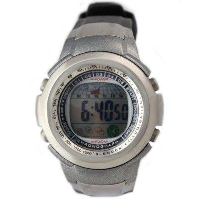 DW073A PNP Matt Silver Watchcase Chronograph Date BackLight Unisex Digital Watch