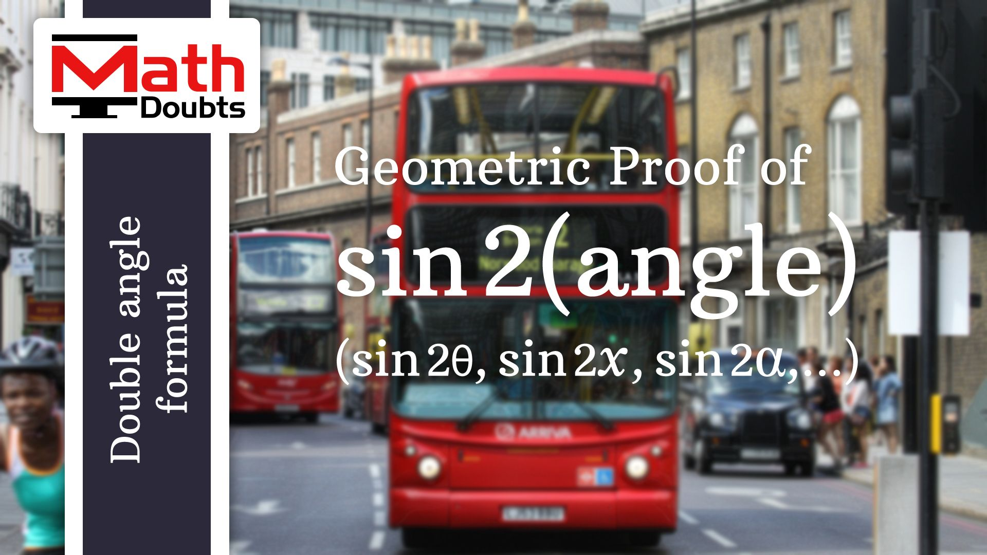 Geometric Proof Of Sin Double Angle Formula In