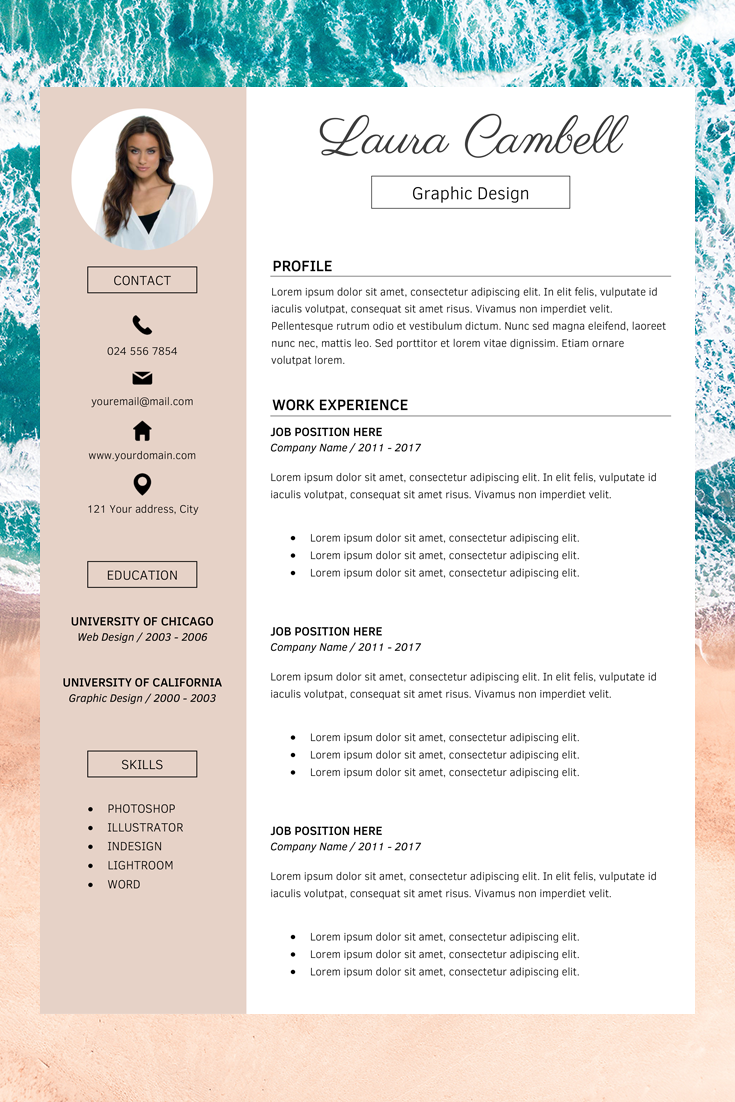 Modern Resume Template Cv Template For Ms Word Professional Resume Design Resume Cover Letter Resume Instant Download Cv Template Word Resume Template Word Modern Resume Template