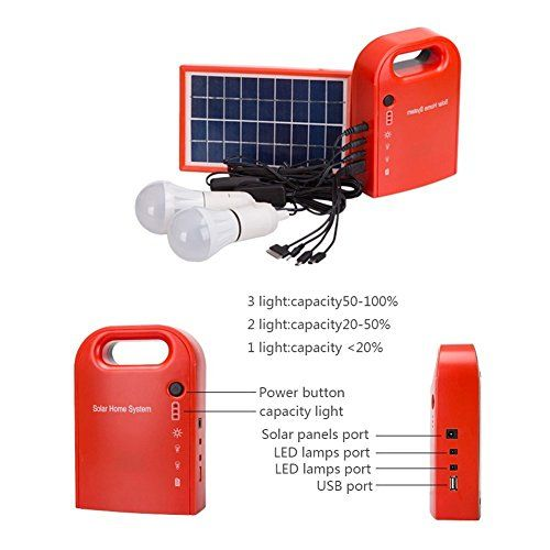 Universal Portable Home Outdoor Dc Solar Panels Lighting Charging Generator Power System With 2xsolar Bulb Usb Char Solar Panels For Home Solar Diy Solar Panel