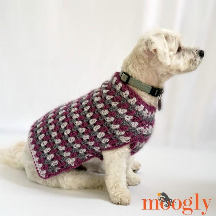 Well Dressed Dog Coat | dog patterns | Pinterest | Croché, Ganchillo ...