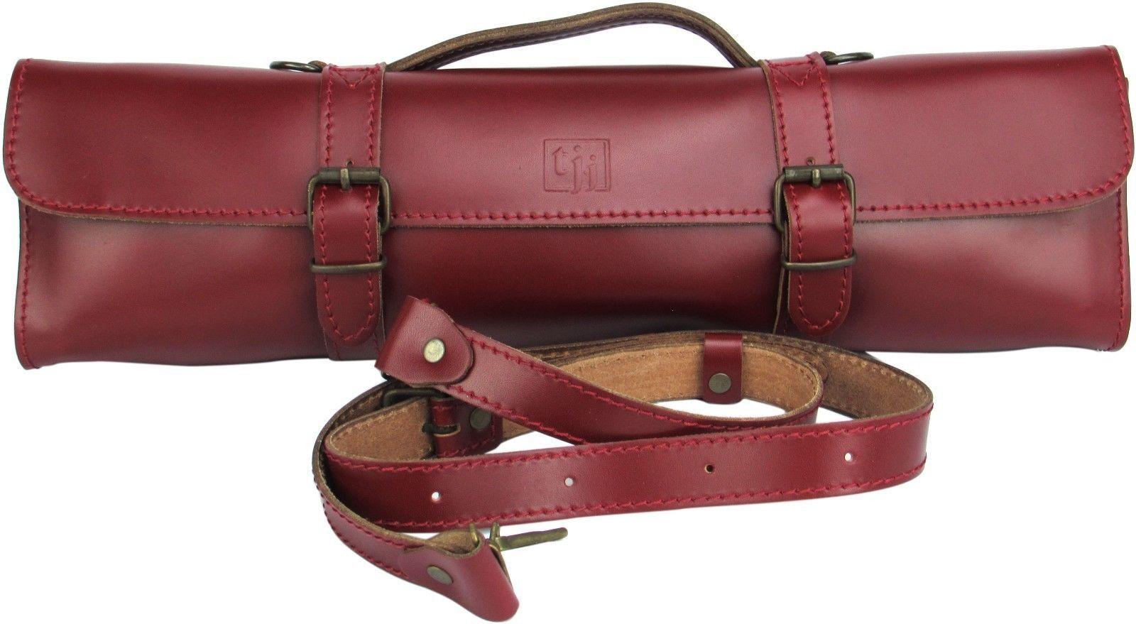0644ebb67ec Trevor James Leather Flute Case Cover Bag Cherry Red   eBay