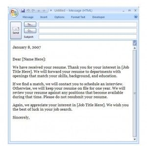 Outlook Interview Confirmation Email Template Template