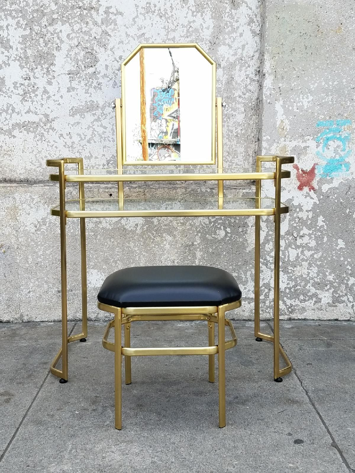Regency Vanity makeup Station with Stool and Mirror