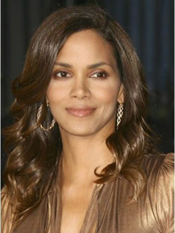Material Heat Friendly Synthetic Hair Cap Construction Lace Front Style Halle Berry Long