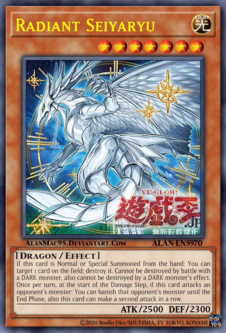 Radiant Seiyaryu By Alanmac95 On Deviantart Yugioh Cards Cards Yugioh Collection