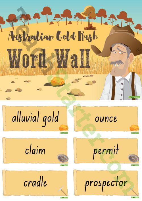 Australian Gold Rush - Word Wall Teaching Resource Gold rush - new letter to minister format australia
