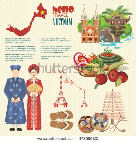 Travel To Vietnam Set Of Traditional Vietnamese Cultural Symbols Vietnamese Landmarks And Lifestyle Of Vietnamese People Vietnam Travel Vietnam Travel