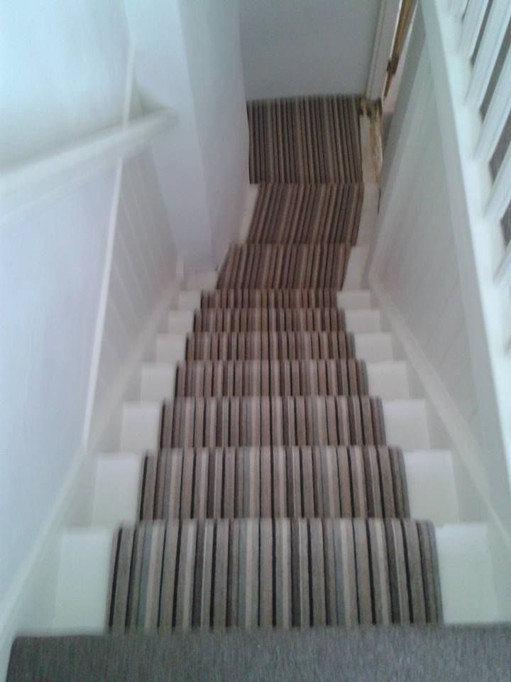 Best An Offset Stairway In A Devon Cottage Fitted With A Stripe 400 x 300