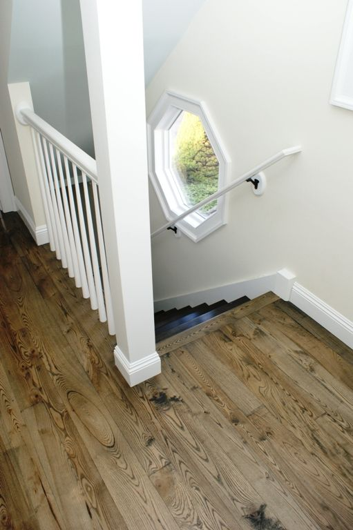 Wide Plank Ash Floors Ebony Stain Not Sure What Is On The Stairs Wide Plank Flooring Ash Flooring Ash Wood Floor