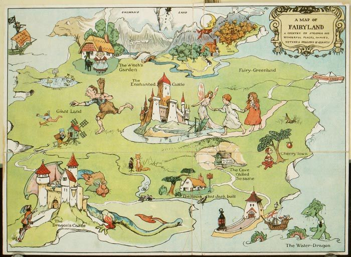 The Magic Map Book. Pictorial map title: A Map of ...