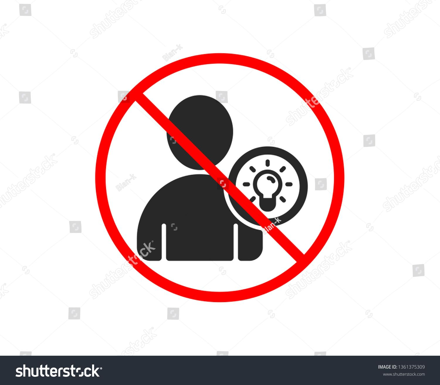 No Or Stop User Icon Profile With Lamp Bulb Sign Person Silhouette With Idea Symbol Prohibited Ban Stop Symbol No In 2020 Person Silhouette City Illustration Icon