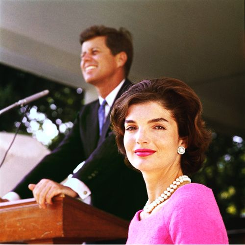 great picture of senator john f. kennedy and wife, jackie