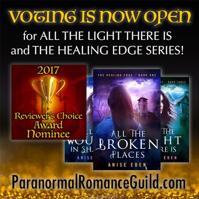 VOTING IS OPEN in theParanormal Romance Guild2017 Reviewer's Choice Awards!Show your love for your favorites in paranormal romance! My books have been nominated in the following two categories: ALL THE LIGHT THERE IS(The Healing Edge, Book Three):ROMANCE/PARANORMAL/FANTASY/ANGELS & GHOSTS/PSYCHICS THE HEALING EDGE SERIES:ROMANCE/PARANORMAL/FANTASY/ANGELS & GHOSTS/PSYCHICS –SERIES Make your voice heard byvoting in the contest fromFeb. 8 – Feb. 18, [...]