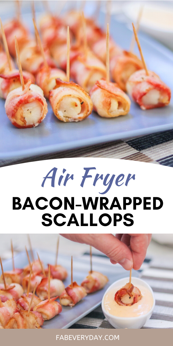 Air Fryer BaconWrapped Scallops with Sriracha Mayo Fab