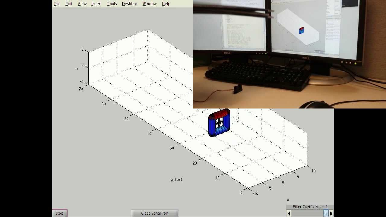 MATLAB Arduino Tutorial 9 - Real-time 3D visualization of Sharp