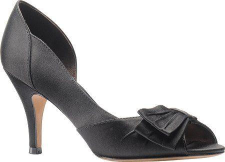 Isola Women's Dolce Satin Peep Toe Pumps in Black Size 9 Isola..... amazon.com  perfect work shoe