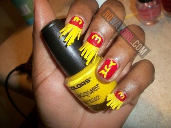 Crazy funny · Ghetto McDonald's French Fries Nail Design ... - Ghetto McDonald's French Fries Nail Design - NoWayGirl Things