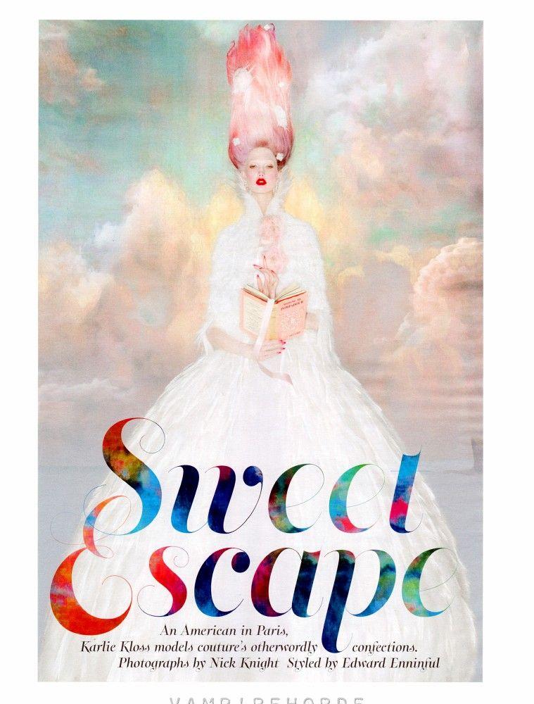 Karlie Kloss por Nick Knight para W Magazine, octubre 2012