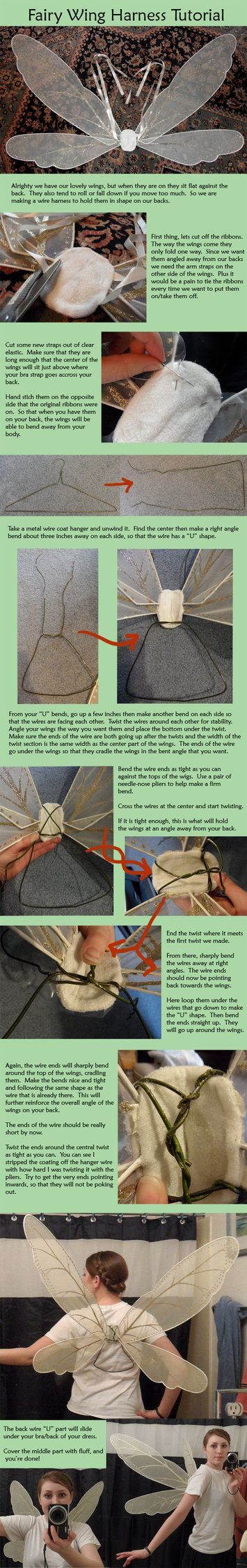 Fairy Wing Wire Harness Tutorial By Naerko On Deviantart Costuming Materials
