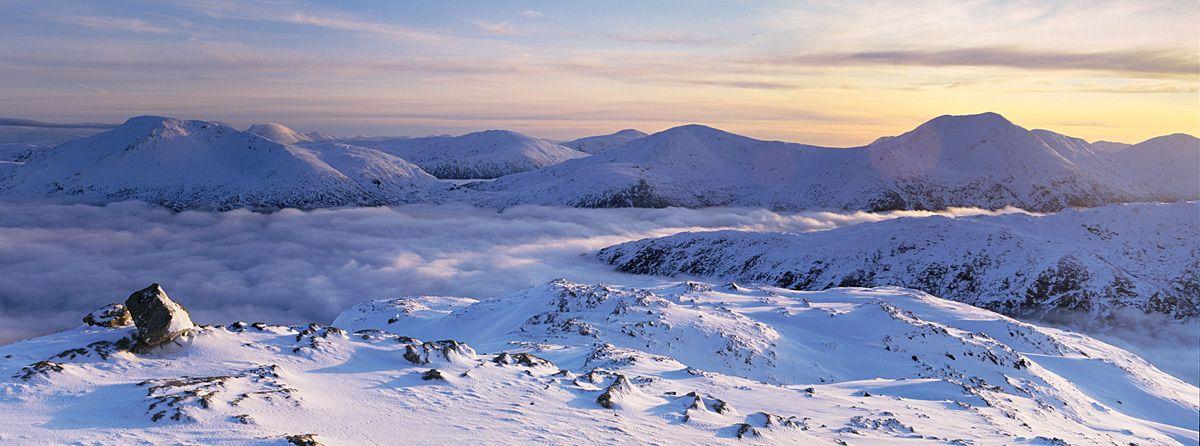 Gairich, Loch Quoich. December 2011. Hasselblad XPan 45mm.