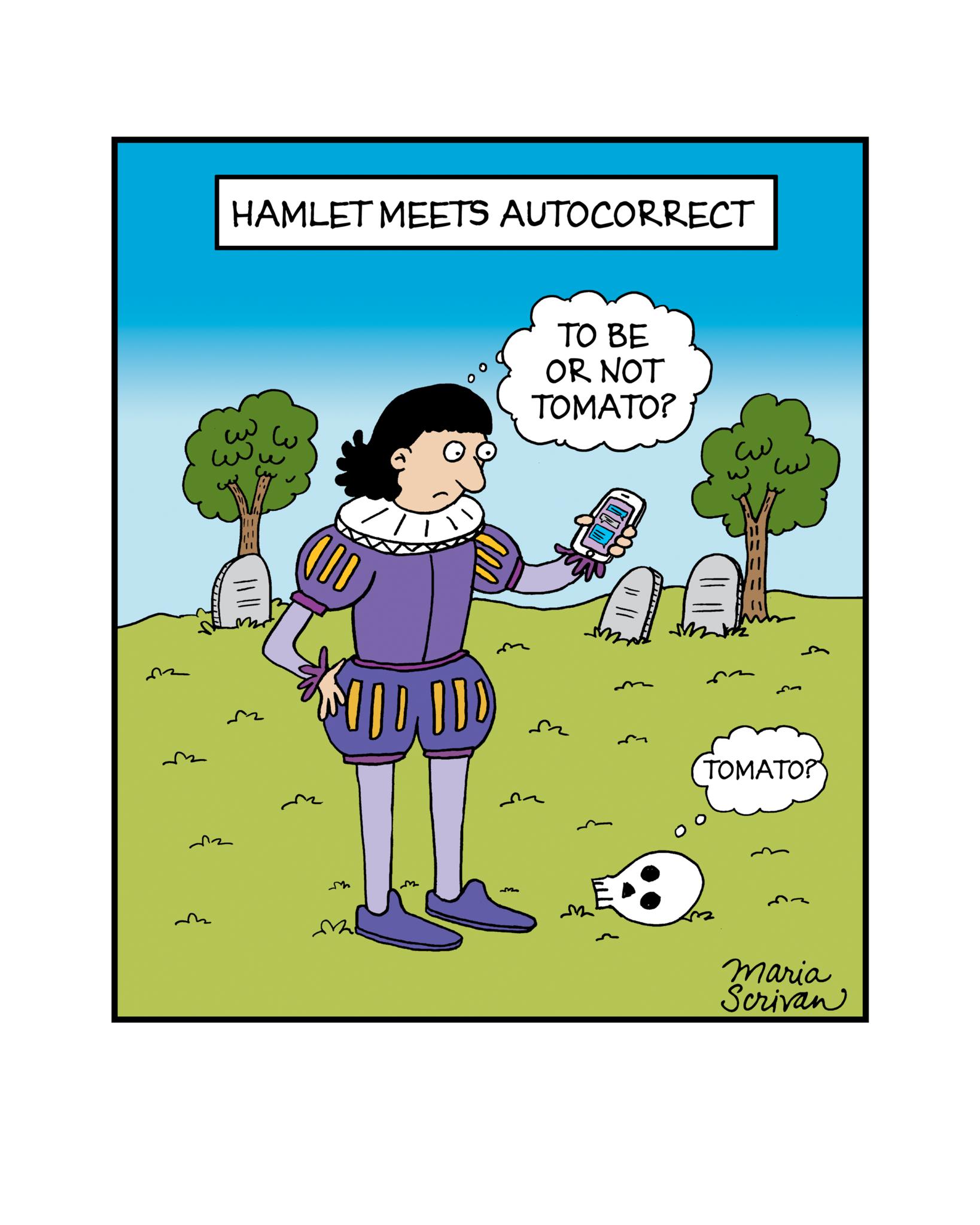 humor in hamlet