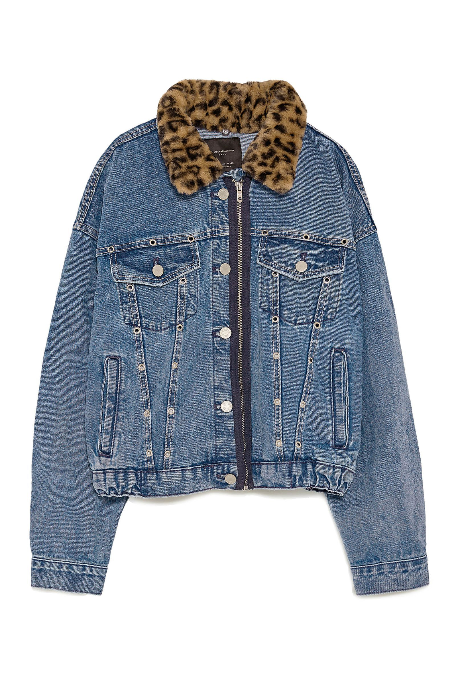 15 Ways To Reimagine Variations On The Denim Jacket Zara Denim Jacket Denim Jacket With Fur Fur Jacket Outfit [ 2400 x 1600 Pixel ]