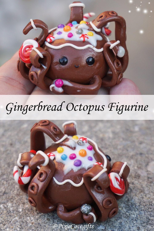 Gingerbread Octopus figurine