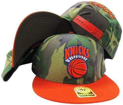 79b9a6fa4a053 New York Knicks Two Tone Camouflage Adjustable Camo Snapback Cap   Hat  47  Brand.  27.99