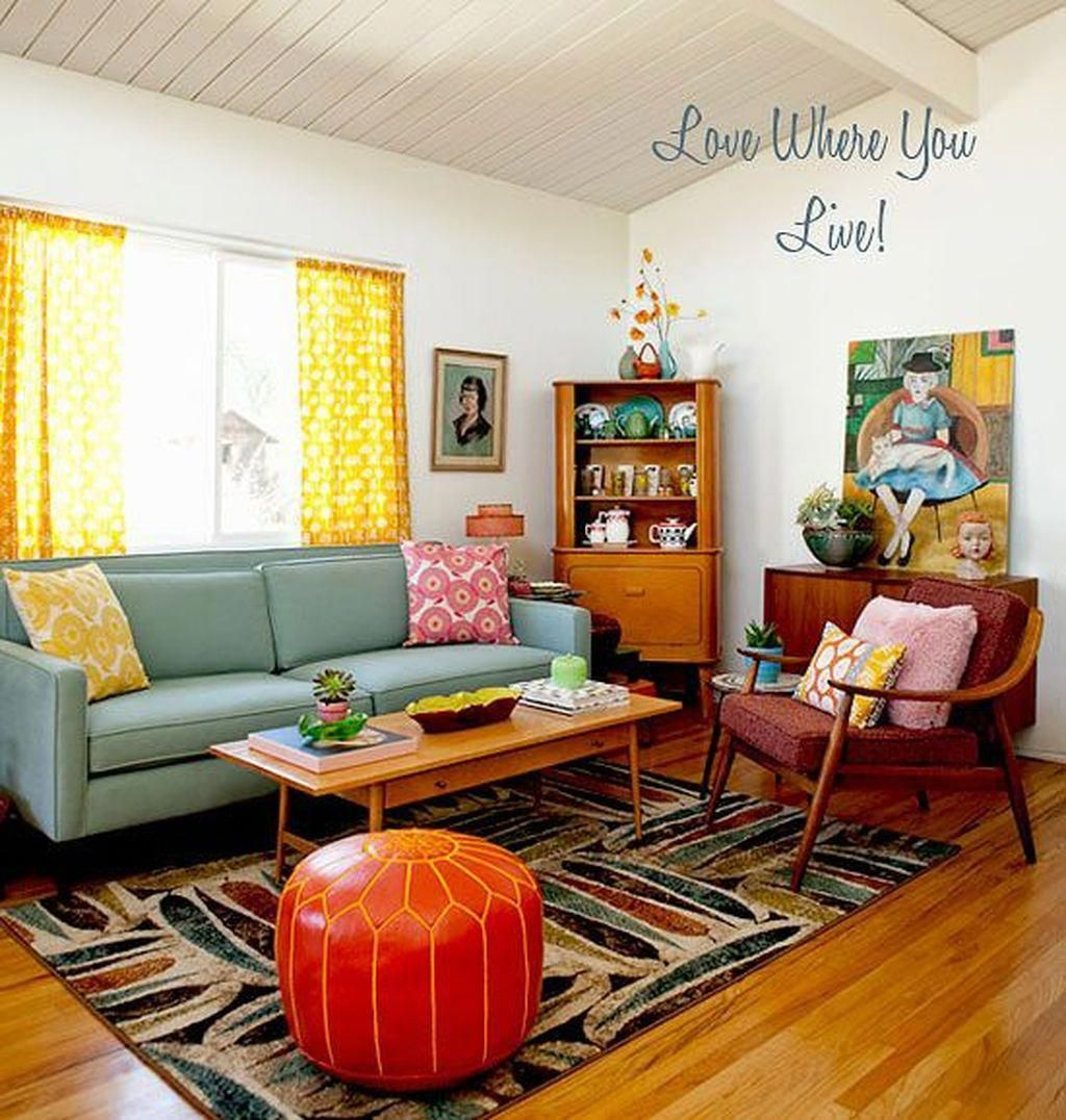 Homedecorcolorslivingroom Retro Living Rooms Mod Living Room Retro Home