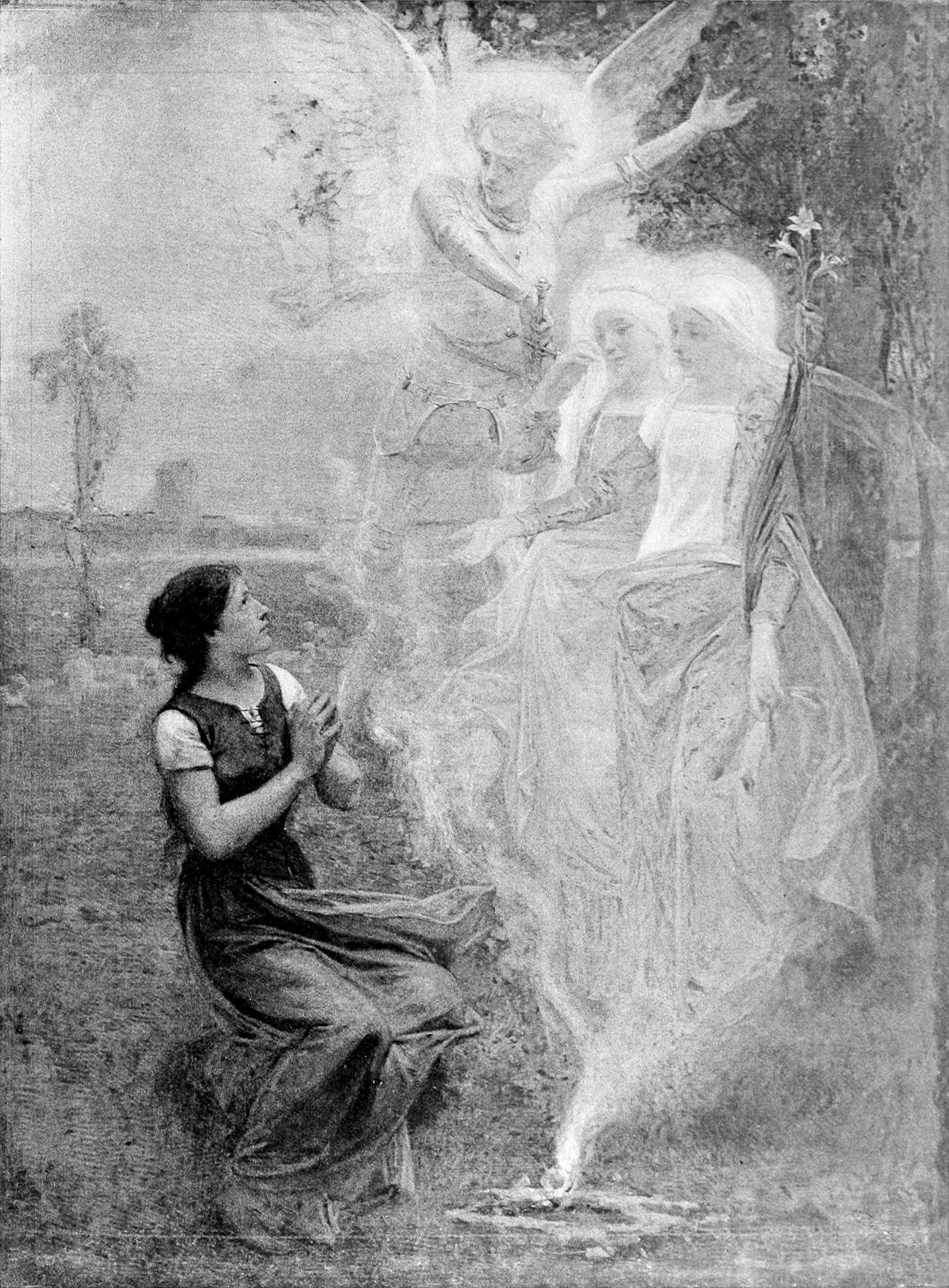 Jeanne D Arc Et Les Voix Celestes Saint Joan Of Arc Joan Of Arc St Joan