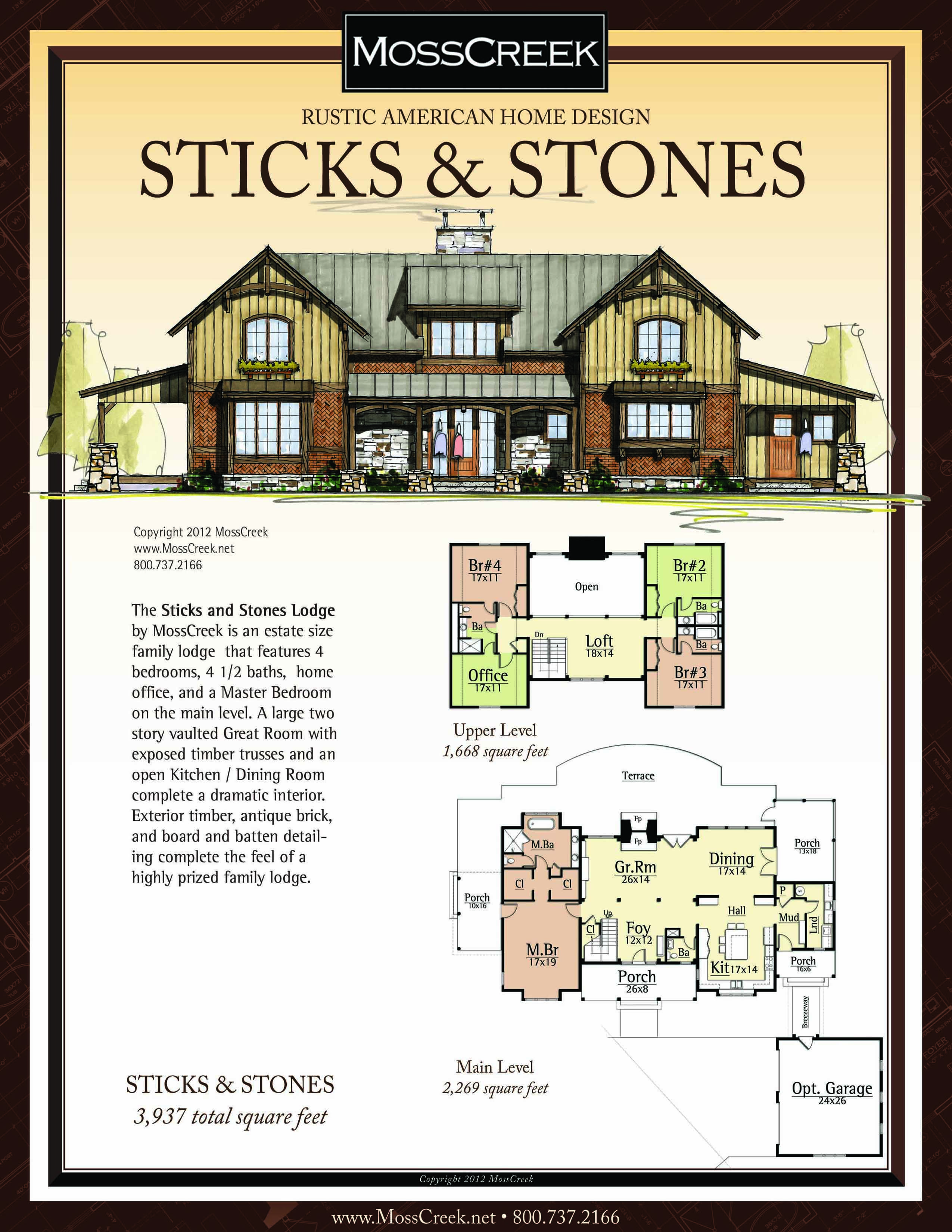 A Ready To Purchase 3937 Sf Home Plan From Mosscreek
