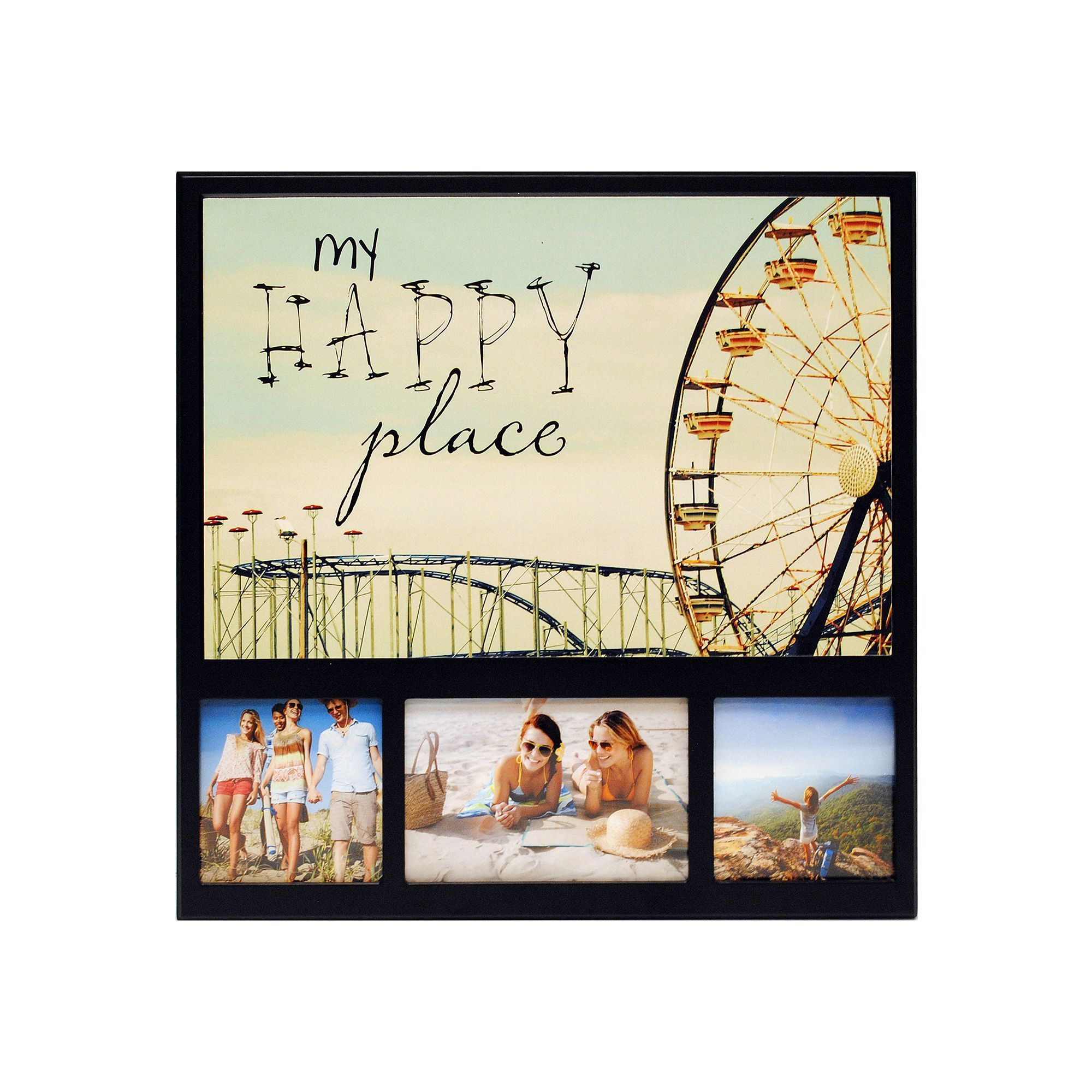 New View My Happy Place Ferris Wheel 3 Opening Collage Frame