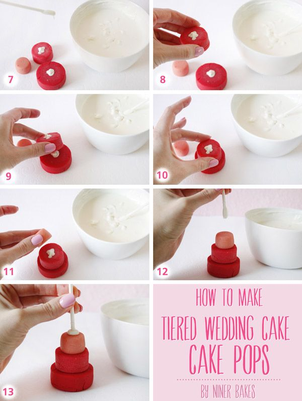 Tutorial How To Make Tiered Wedding Cake Cake Pops By