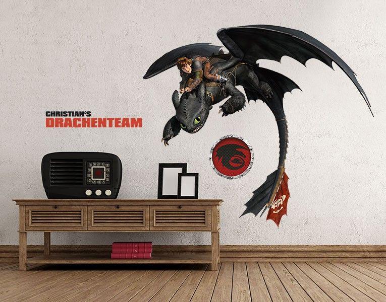 Dragons Wandtattoo Bringen Die Faszinierende Welt Der Drachen In