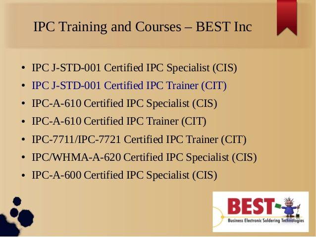 IPC Training at BEST   IPC Training and Certification  BEST