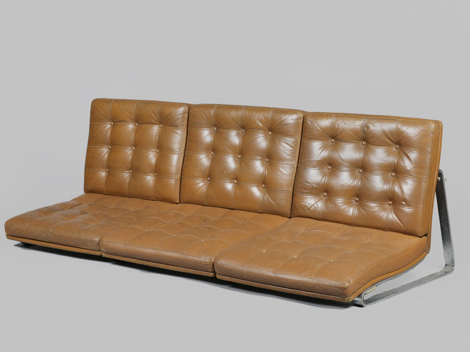 """""""Midcentury Leather Sofa by Gerlev and Knudsen, Wall"""