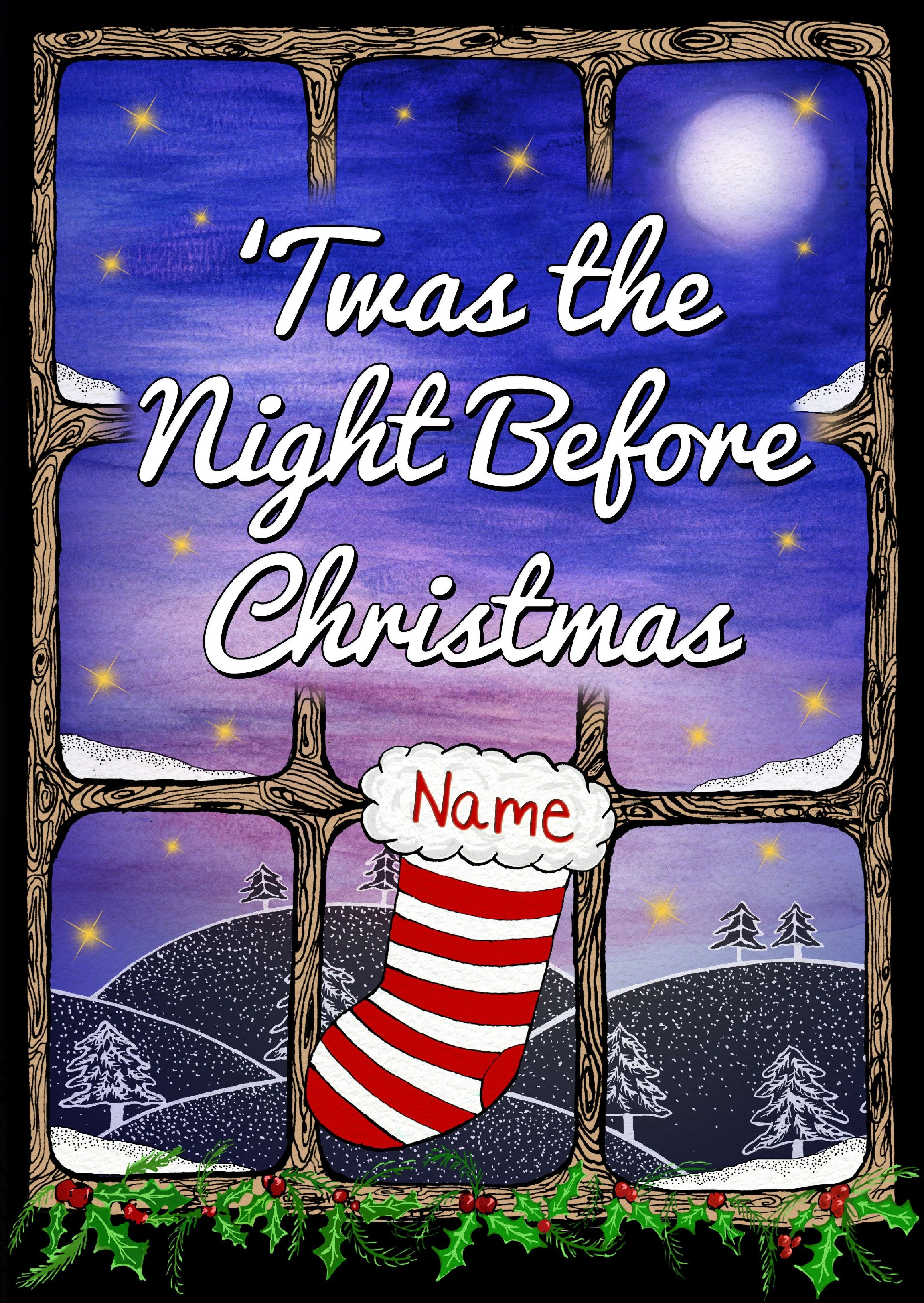 personalised twas the night before christmas a perfect gift for